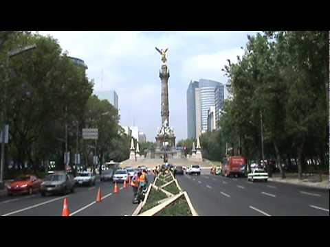 Mexico City looking at the Angel of Independence