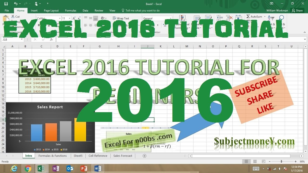 Ediblewildsus  Pleasant Microsoft Excel  Tutorial For Beginners Part  Full Intro  With Gorgeous Microsoft Excel  Tutorial For Beginners Part  Full Intro Learn How To Use Excel   Youtube With Cool Formula To Count Characters In Excel Also Excel Hide Row In Addition Excel Vba Find Value And Excel Graph Types As Well As What Is The Countif Function In Excel Additionally Creating Formulas In Excel  From Youtubecom With Ediblewildsus  Gorgeous Microsoft Excel  Tutorial For Beginners Part  Full Intro  With Cool Microsoft Excel  Tutorial For Beginners Part  Full Intro Learn How To Use Excel   Youtube And Pleasant Formula To Count Characters In Excel Also Excel Hide Row In Addition Excel Vba Find Value From Youtubecom