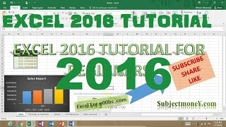 Microsoft Excel 2016 Tutorial for Beginners Part 1 Full Intro Learn How to Use Excel 2016