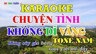 Chuyện tình không dĩ vãng - Karaoke nhạc sống TONE NAM | Karaoke Chất lượng cao - 4K Ultra HD