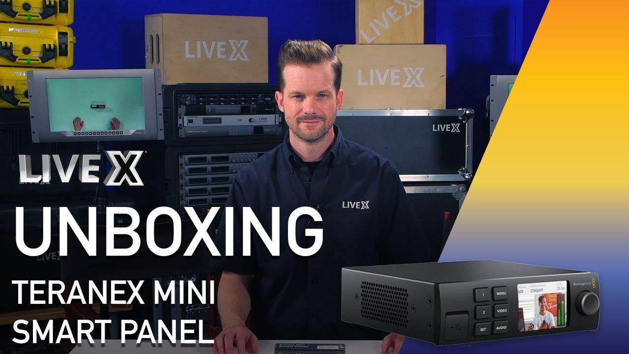 Unboxing Teranex Mini Smart Panel Blackmagic Design Youtube