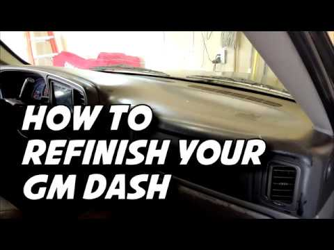 How To Repair / Refinish Your Scratched GM Dash Tahoe Silverado Suburban