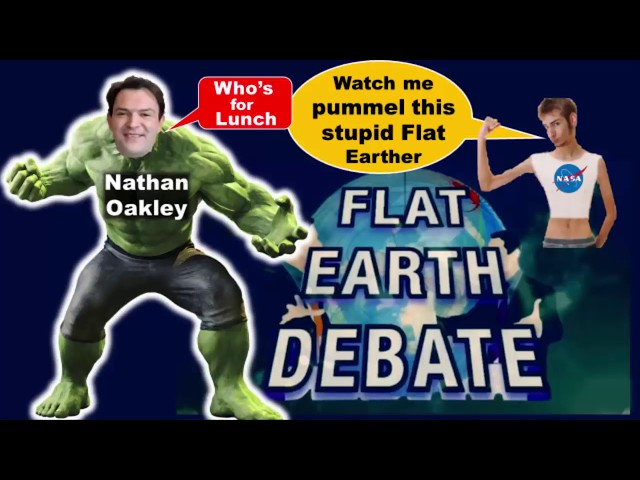 SHIP OVER CURVATURE? Clip from NATHAN OAKLEY's F/@t Earth DEBATE show802