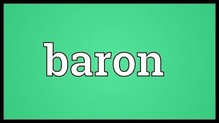 Baron Meaning