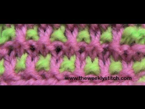 Two Color Granite Stitch Youtube