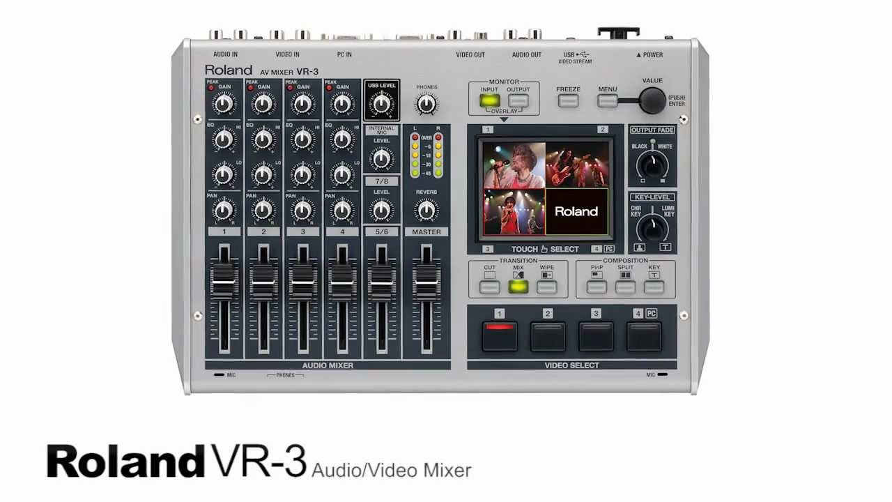 Roland Vr 3 Audio Video Streaming Mixer Review Youtube