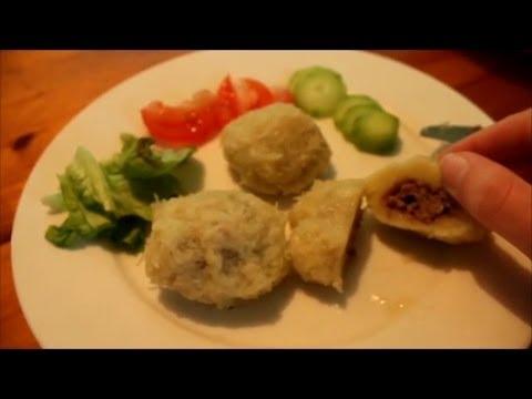 Dumplings van Aardappel-deeg