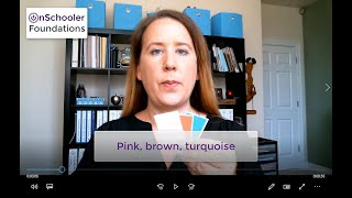 A7-Pink, brown, turquoise (How to teach your preschool/kindergarten child these three colors)