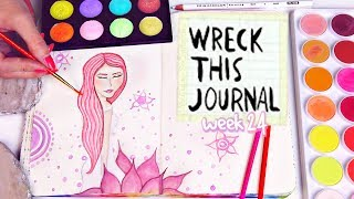 WRECK THIS JOURNAL 24 : IRIDESCENT WATERCOLOR PAINT // SoCraftastic Video