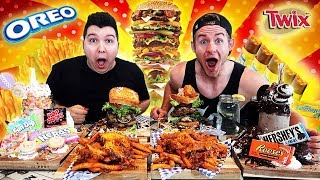 THE ALL AMERICAN CHEAT MEAL CHALLENGE (25,000+ CALORIES)
