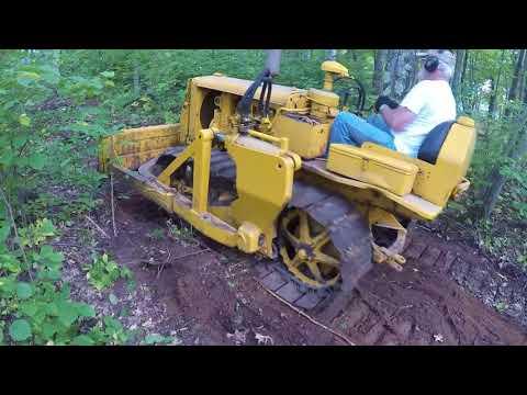 Caterpillar D2 #5U-4399 Cutting a Trail Through the Woods