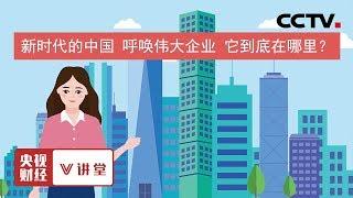《央视财经V讲堂》 20191217 新时代的中国 呼唤伟大企业 它到底在哪里?| CCTV财经