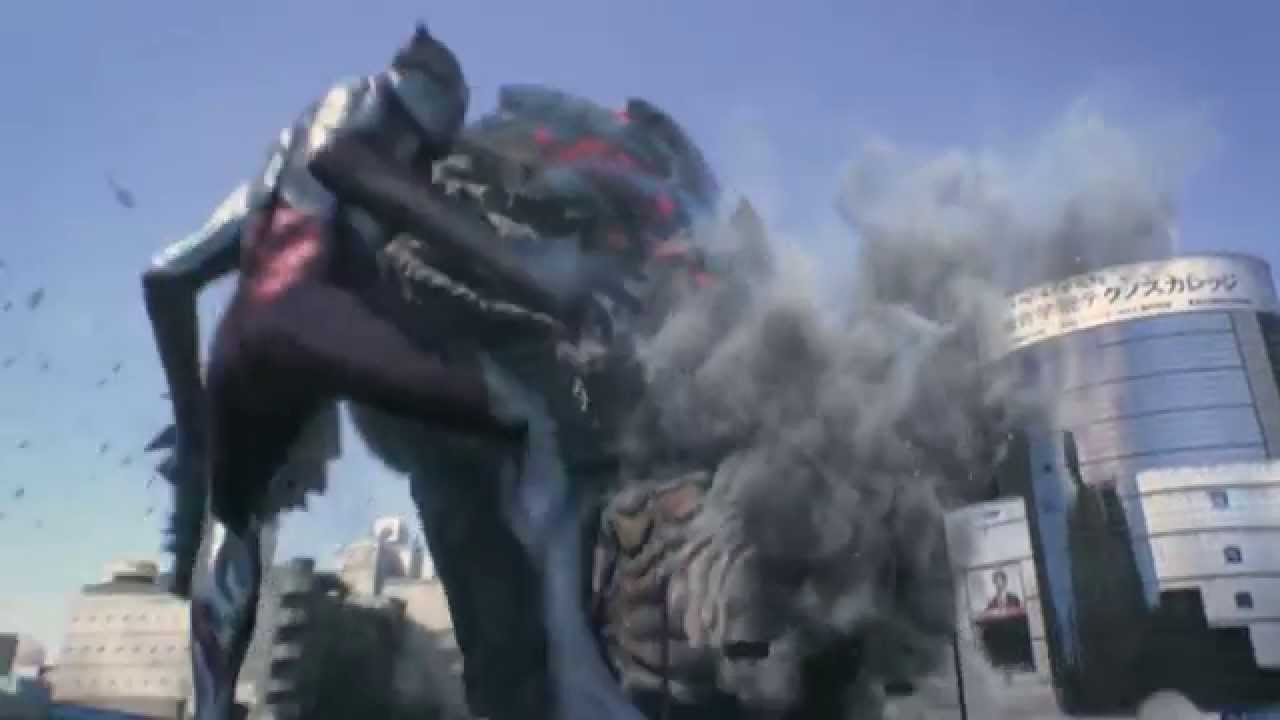 ultraman n  a fighting in shibuya tokyo    kaiju disaster