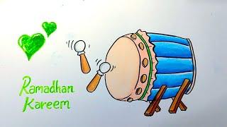 Cara menggambar poster ramadhan 2021