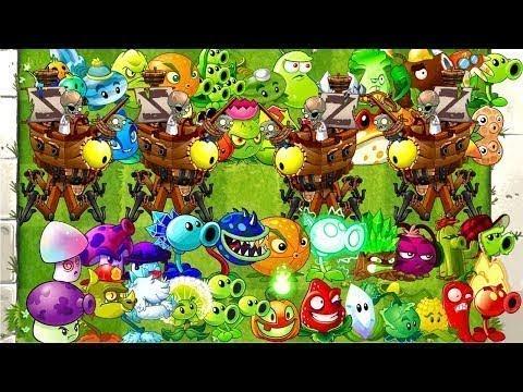Plants vs Zombies 2 Gameplay Every Plant Power Up vs Pirate Zomboss Fight PVZ 2 Mod