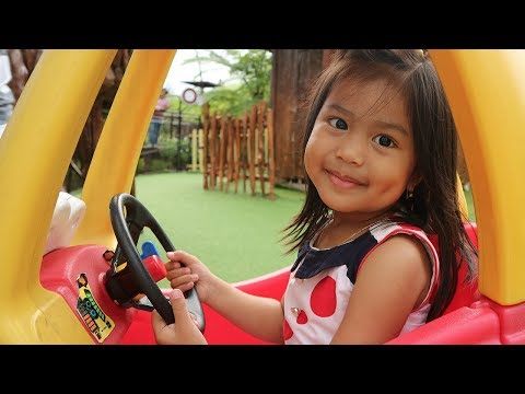 Bermain di Taman Bermain Bareng Dede Senja - Playground Bernuansa Alam di Dusun Bambu