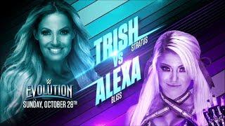 WWE Evolution 2018 | Trish Stratus VS Alexa Bliss