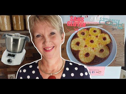 gâteau-moelleux-a-l'ananas-sans-gluten-au-compact-cook-elite-!