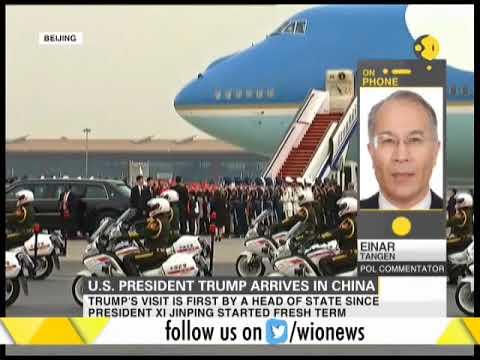 U.S. President Trump arrives in China