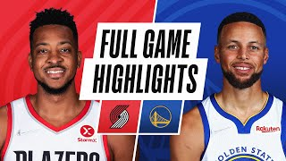 TRAIL BLAZERS at WARRIORS   NBA PRESEASON FULL GAME HIGHLIGHTS   October 15, 2021