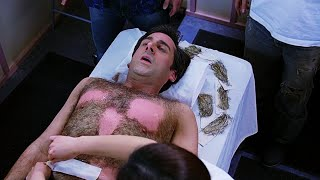 Andy Waxing Treatment Funny Clip in Hindi || The 40 Year Old Virgin (2005)