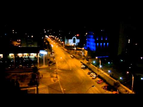 Cluj Napoca at night.