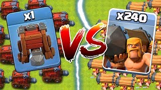 1 WALL WRECKER VS. 240 BATTLE RAMS!!! Who Will Win?? | Clash of Clans Siege Machine