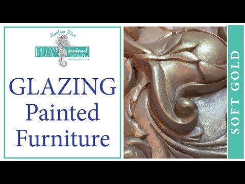 Glazing painted furniture with an antique soft gold