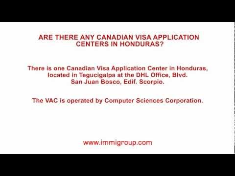Are there any Canadian Visa Application Centers in Honduras?