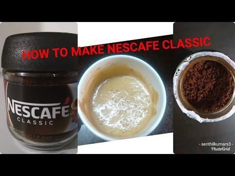 How To Make Nescafe Coffee   Nescafe Classic Coffee Powder  How To Make Nescafe Coffee With Milk