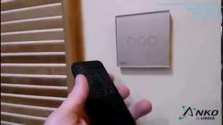 Anko от LIVOLO трехсенсорный выключатель + сенсорный пульт(Сенсорный выключатель трехсенсорный, предназначен для управления тремя линиями освещения легким касанием..., 2015-04-11T15:12:14.000Z)