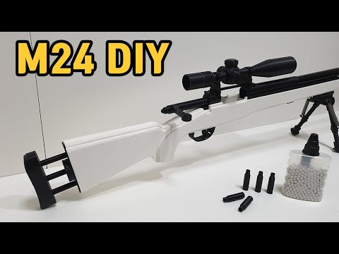 HOW TO MAKE SHELL EJECTING GUN : DIY M24 AIRSOFT