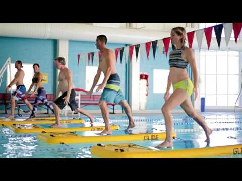 Floating Fitness Class By GlideFIT - CardioWave Level 1 Fundamental Class For All Levels.