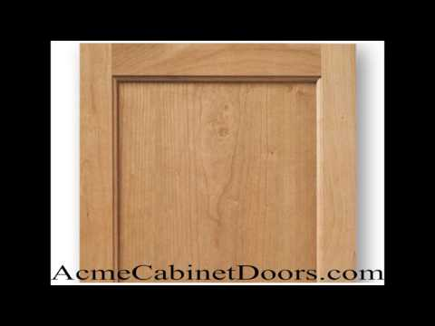 Unfinished Cherry Inset Panel Cabinet Door Youtube