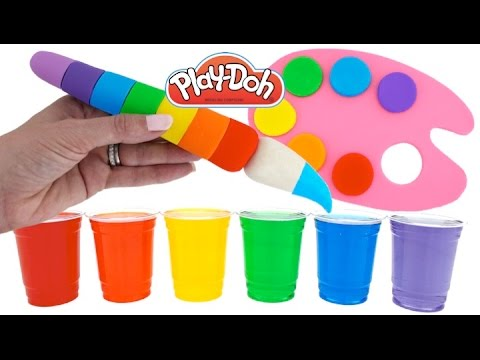 Thumbnail: Learn Rainbow Colors with Play Doh Paint Palette and Water Paint * Fun & Easy Play * RainbowLearning