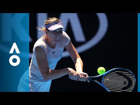 Tatjana Maria v Maria Sharapova match highlights 1R  Australian Open 2018