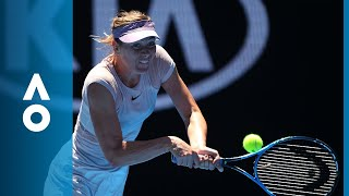 Tatjana Maria v Maria Sharapova match highlights (1R) | Australian Open 2018