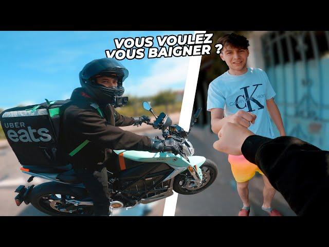 Les PIRES livreurs uber eats à moto 🤦♂️ / Insta360 One X2