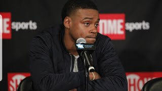 A FRUSTRATED ERROL SPENCE  REACTS AFTER...