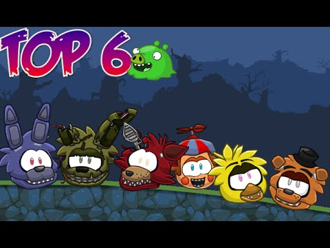 top 6 five nights at freddy s characters in bad piggies youtube