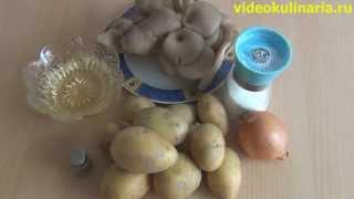 Рецепт-Жареный картофель с вешанками от videokulinaria.ru