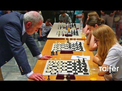 Ο Κασπάροφ ενάντια σε Ελληνίδες πρωταθλήτριες | Garry Kasparov VS Young Female Chess Champions