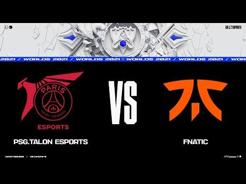PSG vs. FNC   Worlds Group Stage Day 3   PSG Talon vs. Fnatic (2021)
