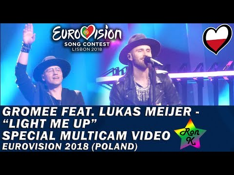 """Gromee feat. Lukas Meijer - """"Light Me Up"""" - Special Multicam video - Eurovision 2018 (Poland)"""