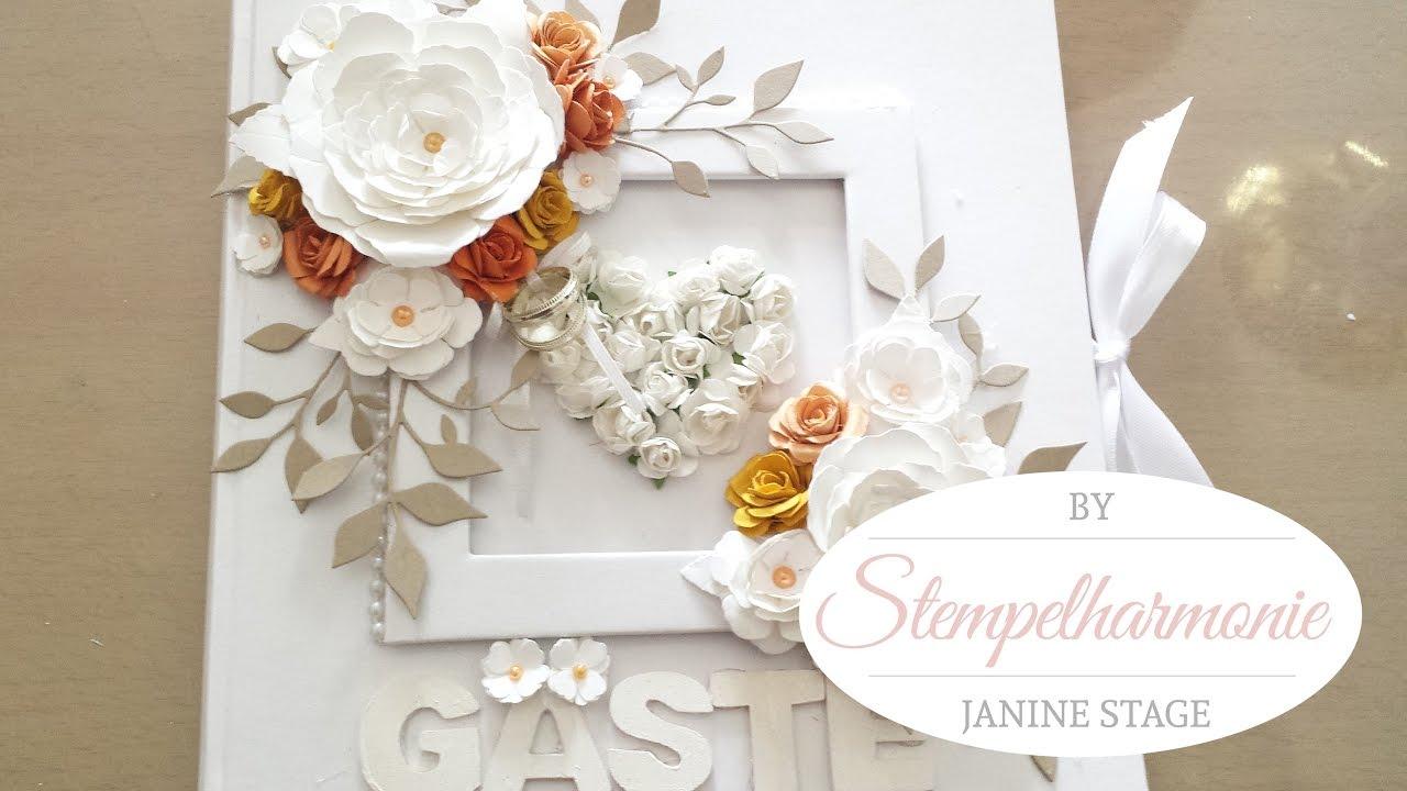 Mein Hochzeitsprojekt Teil 2 Gastebuch Selbst Gestalten Basteln