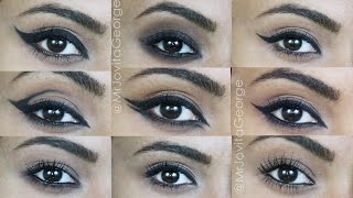 10 DIFFERENT EYELINER LOOKS Using Kohl Pencil In Under 7 Minutes featuring PLUM Products