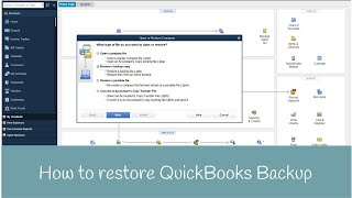 How to restore QuickBooks Backup