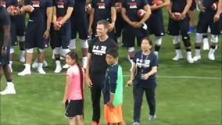 【Tom Brady】トム・ブレイディ選手来日・スローイングゲームで本領発揮 Youtube
