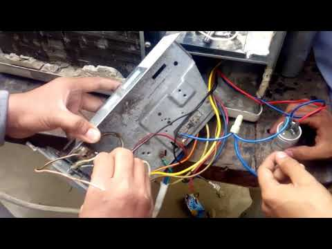 window ac wiring connection according to diagram urdu/hindi on