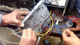 window ac wiring connection  according to diagram urdu/hindi